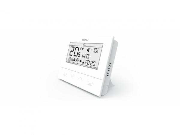 Belaidis kambario termostatas (3 mm stiklas), naudojamas nuotoliniam katilų valdymui.