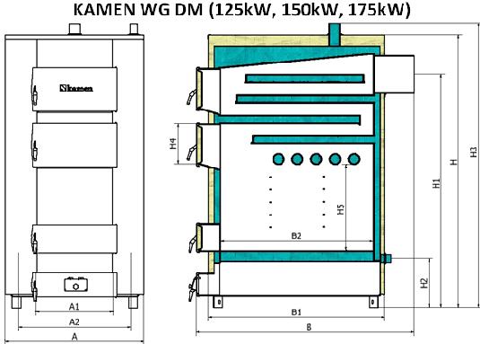 Didelio galingumo katilo Kamen WG-DM pjuvis